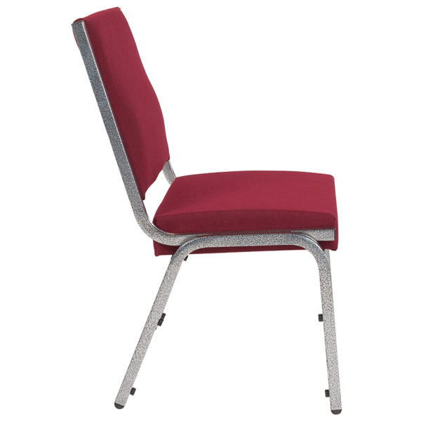 Lowest Price HERCULES Series 1500 lb. Rated Burgundy Antimicrobial Fabric Bariatric Medical Reception Chair