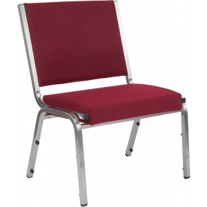 Wholesale HERCULES Series 1500 lb. Rated Burgundy Antimicrobial Fabric Bariatric Medical Reception Chair