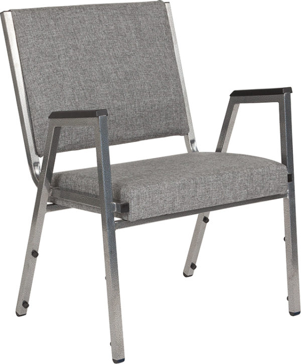 Wholesale HERCULES Series 1500 lb. Rated Gray Antimicrobial Fabric Bariatric Medical Reception Arm Chair