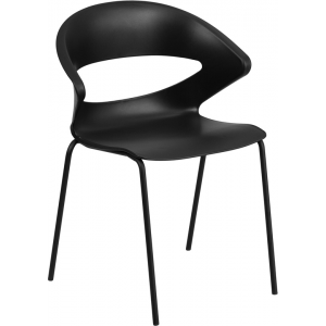 Wholesale HERCULES Series 440 lb. Capacity Black Stack Chair