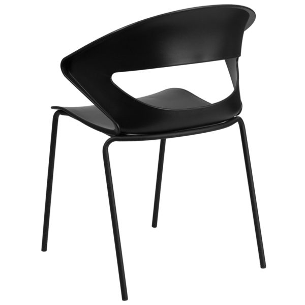 Multipurpose Stack Chair Black Stack Chair