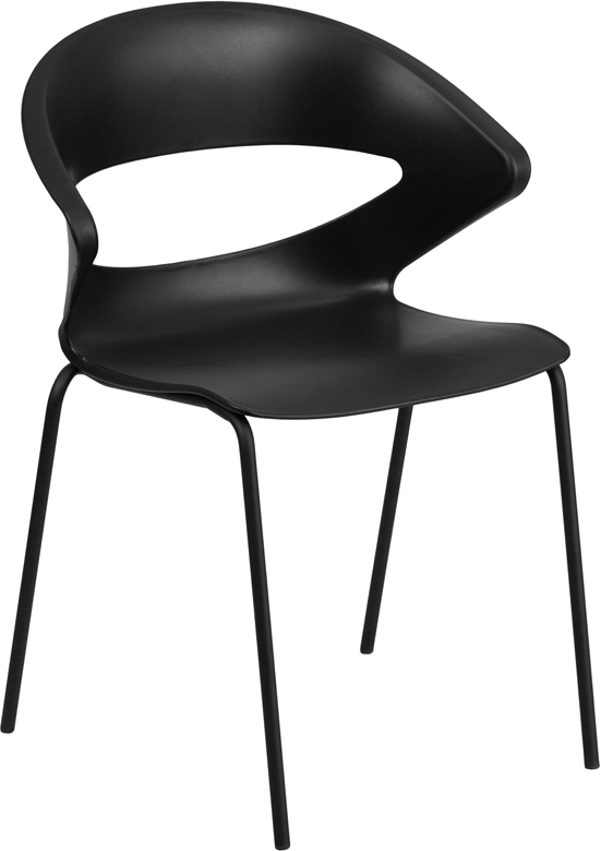 Wholesale HERCULES Series 440 lb. Capacity Black Stack Chair