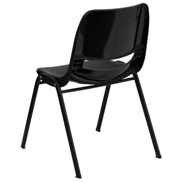 Multipurpose Stack Chair Black Stack Chair-Black Frame