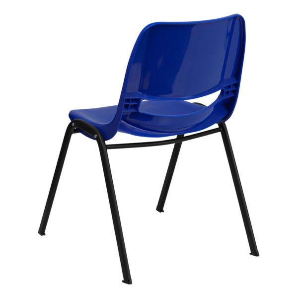 Multipurpose Stack Chair Navy Stack Chair-Black Frame