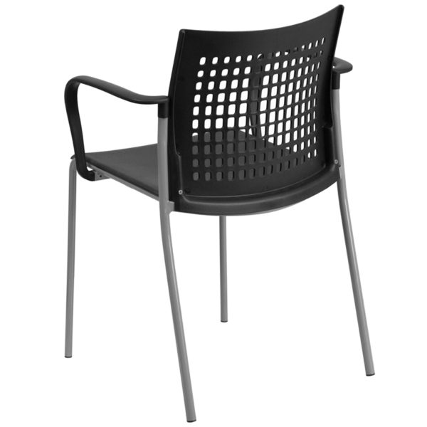 Multipurpose Stack Chair Black Plastic Stack Chair