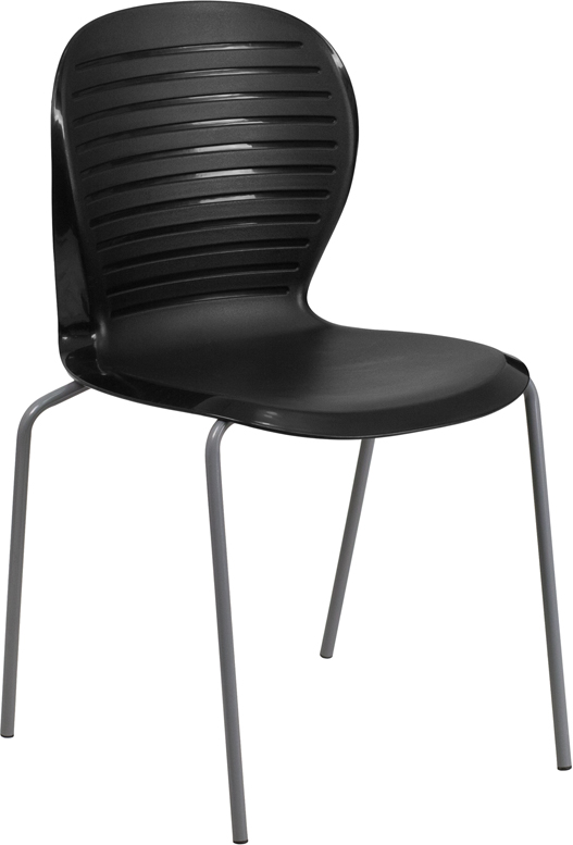 Wholesale HERCULES Series 551 lb. Capacity Black Stack Chair