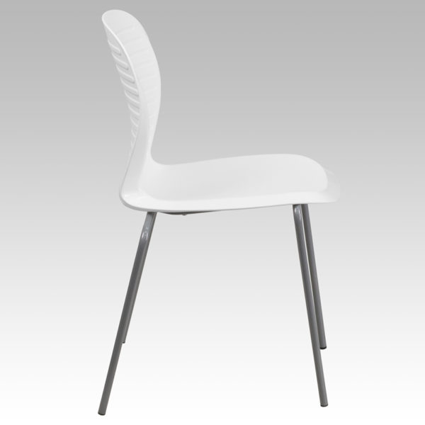 Lowest Price HERCULES Series 551 lb. Capacity White Stack Chair