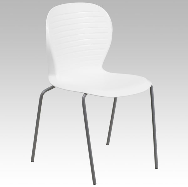 Wholesale HERCULES Series 551 lb. Capacity White Stack Chair