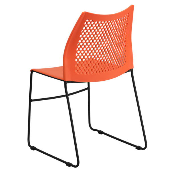 Multipurpose Stack Chair Orange Plastic Stack Chair