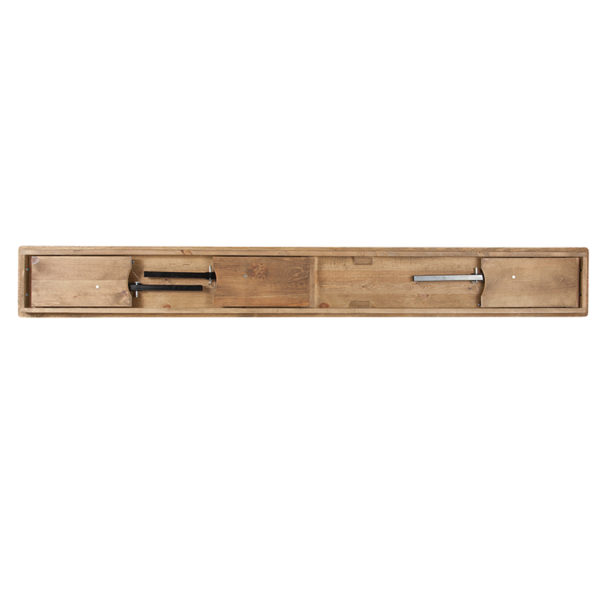 "Rustic Style 8'x12"" Folding Farm Bench"