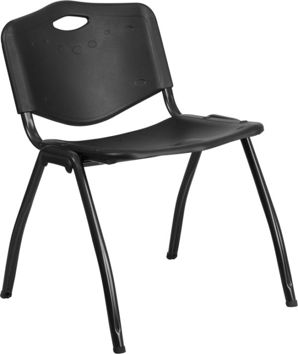 Wholesale HERCULES Series 880 lb. Capacity Black Plastic Stack Chair
