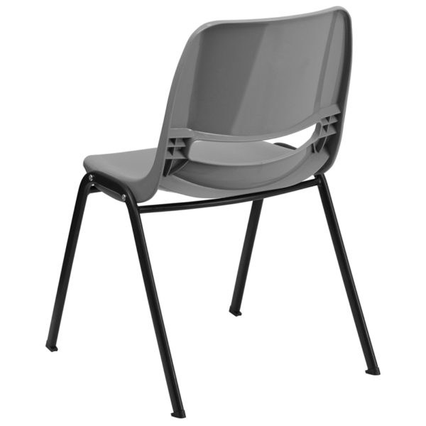 Multipurpose Stack Chair Gray Plastic Stack Chair