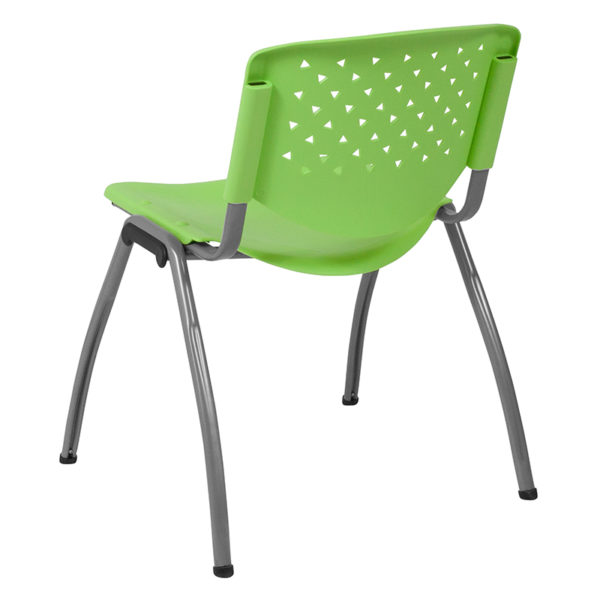 Multipurpose Stack Chair Green Plastic Stack Chair
