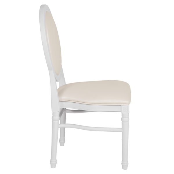 Classic Style White Round Back Dining Chair