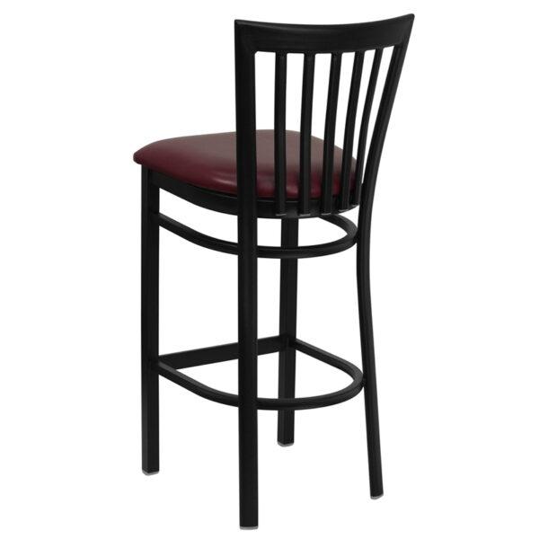 Metal Dining Bar Stool Black School Stool-Burg Seat