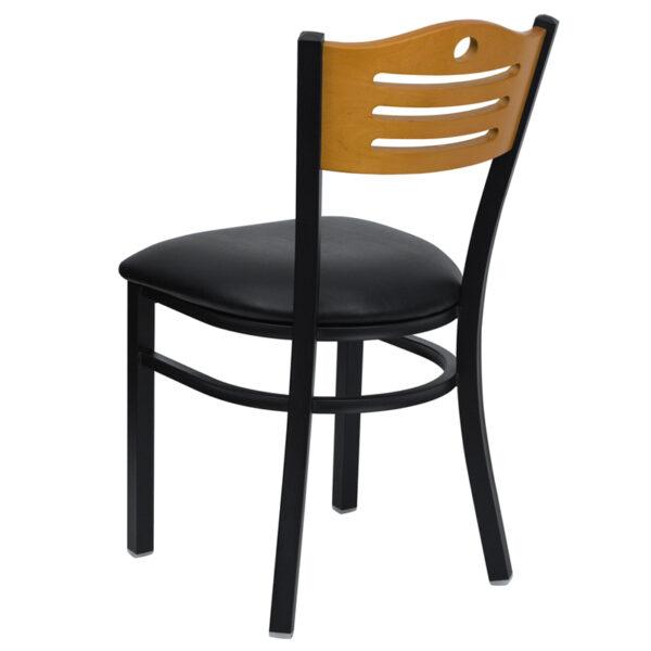 Black Vinyl Seat