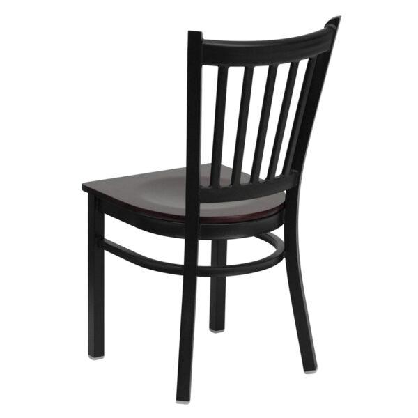 Metal Dining Chair Black Vert Chair-Mah Seat