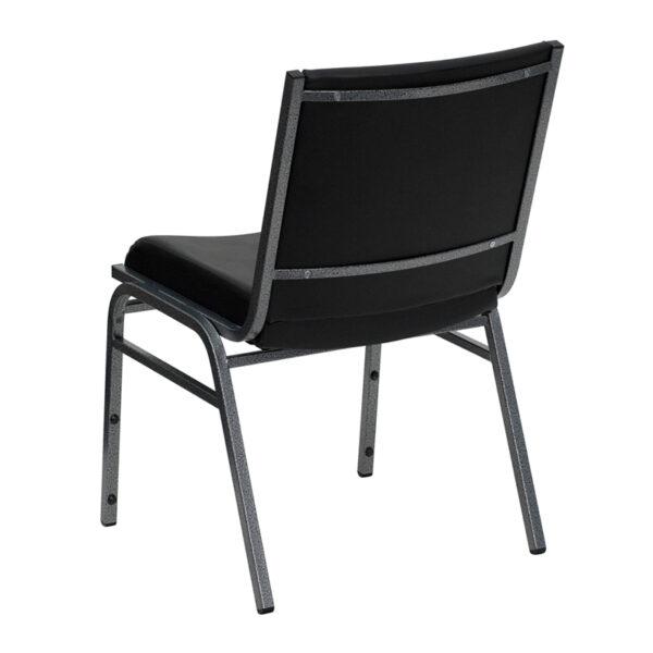 Multipurpose Stack Chair Black Vinyl Stack Chair