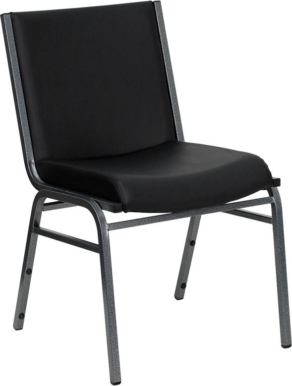 Wholesale HERCULES Series Heavy Duty Black Vinyl Stack Chair