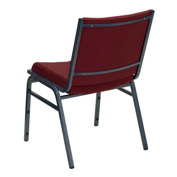 Multipurpose Stack Chair Burgundy Fabric Stack Chair