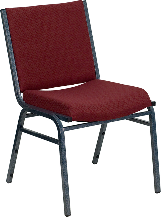 Wholesale HERCULES Series Heavy Duty Burgundy Patterned Fabric Stack Chair