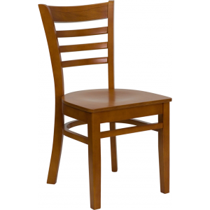Wholesale HERCULES Series Ladder Back Cherry Wood Restaurant Chair
