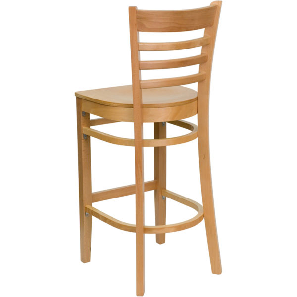 Wood Dining Bar Stool Natural Wood Stool