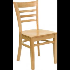 Wholesale HERCULES Series Ladder Back Natural Wood Restaurant Chair