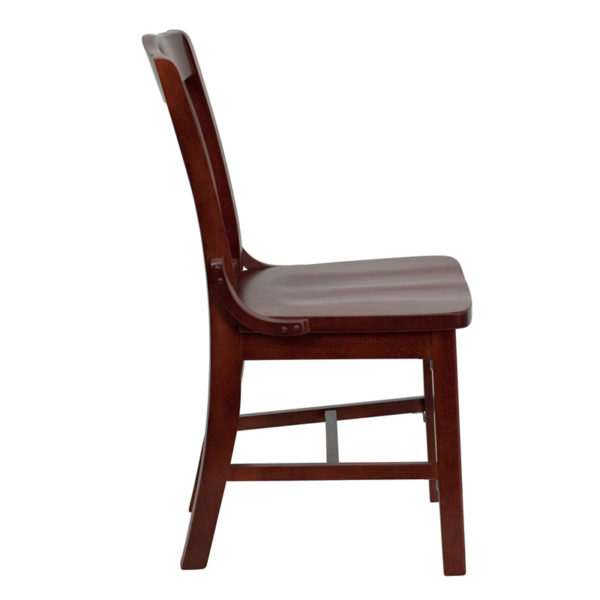 Lowest Price HERCULES Series School House Back Mahogany Wood Restaurant Chair