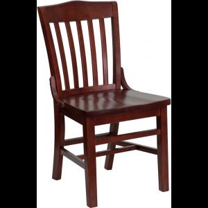 Wholesale HERCULES Series School House Back Mahogany Wood Restaurant Chair