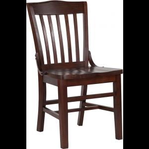 Wholesale HERCULES Series School House Back Walnut Wood Restaurant Chair