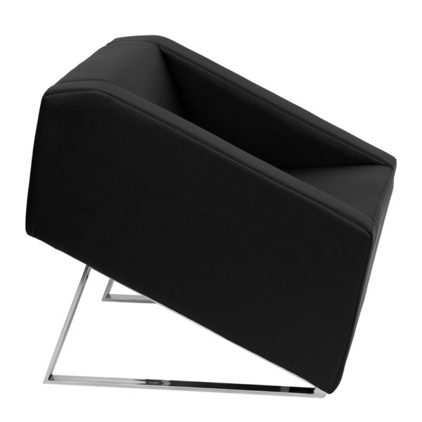 Lowest Price HERCULES Smart Series Black Leather Lounge Chair