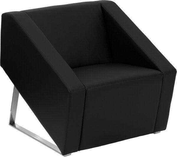 Wholesale HERCULES Smart Series Black Leather Lounge Chair