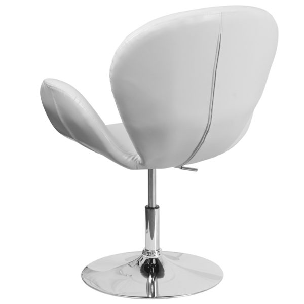 Lounge Chair White Leather Side Chair