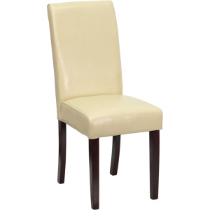 Wholesale Ivory Leather Parsons Chair