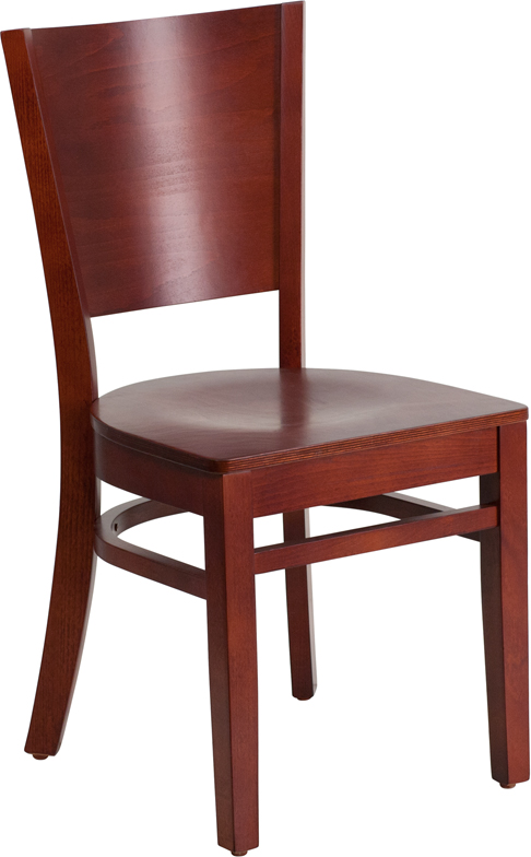Wholesale Lacey Series Solid Back Mahogany Wood Restaurant Chair