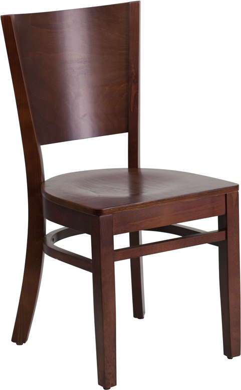 Wholesale Lacey Series Solid Back Walnut Wood Restaurant Chair