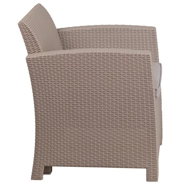 Contemporary Outdoor Chair Gray Rattan Outdoor Chair