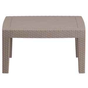 Wholesale Light Gray Faux Rattan Coffee Table