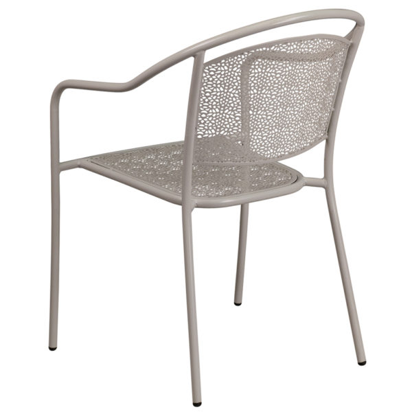 Stackable Patio Chair Gray Round Back Patio Chair