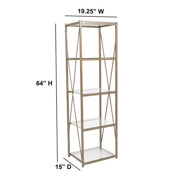Contemporary Style Glass Storage Shelf