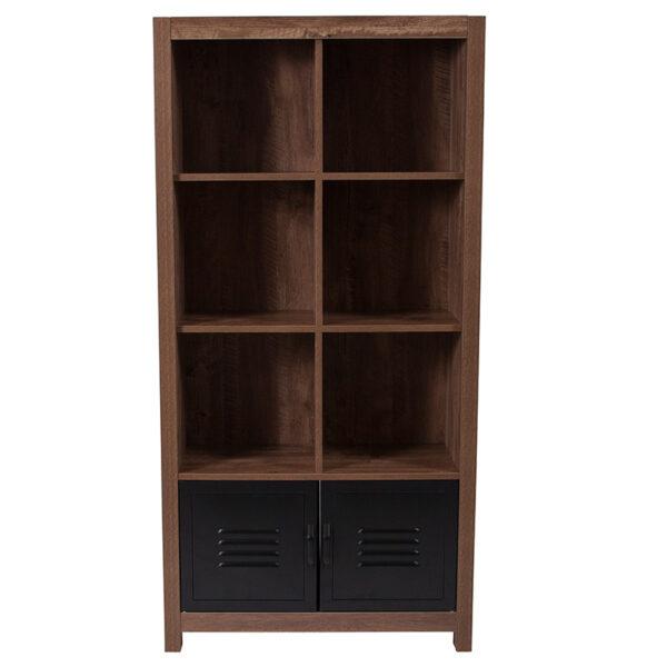 Contemporary Style Oak Storage Shelf