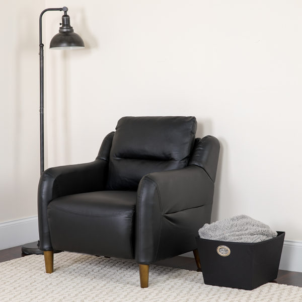Lowest Price Newton Hill Upholstered Bustle Back Arm Chair in Black Leather