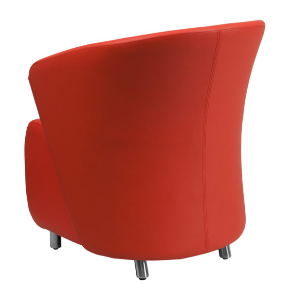 Lounge Chair Red Leather Lounge Chair