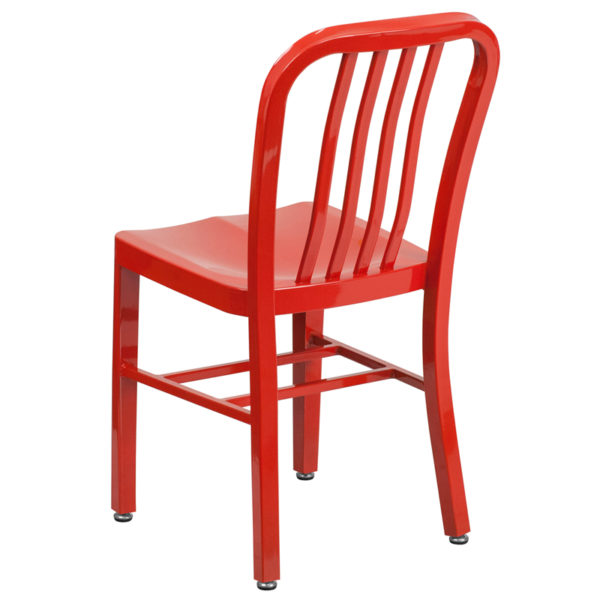 Industrial Style Modern Chair Red Indoor-Outdoor Chair