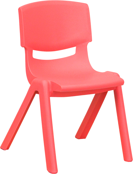 Wholesale Red Plastic Stackable School Chair with 12'' Seat Height