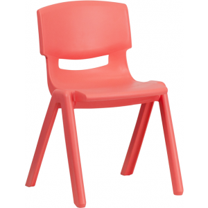 Wholesale Red Plastic Stackable School Chair with 13.25'' Seat Height