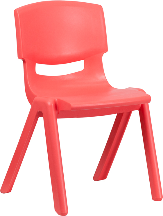 Wholesale Red Plastic Stackable School Chair with 15.5'' Seat Height