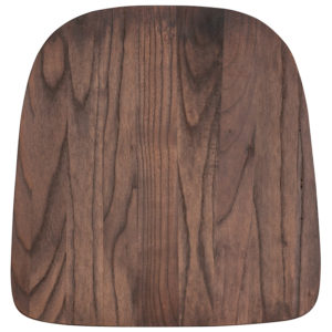 Wholesale Rustic Walnut Wood Seat for Colorful Metal Chairs