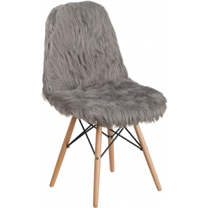 Wholesale Shaggy Dog Charcoal Gray Accent Chair
